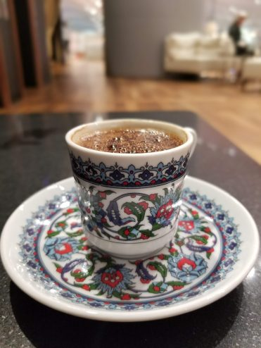 Turkish coffee at the lounge