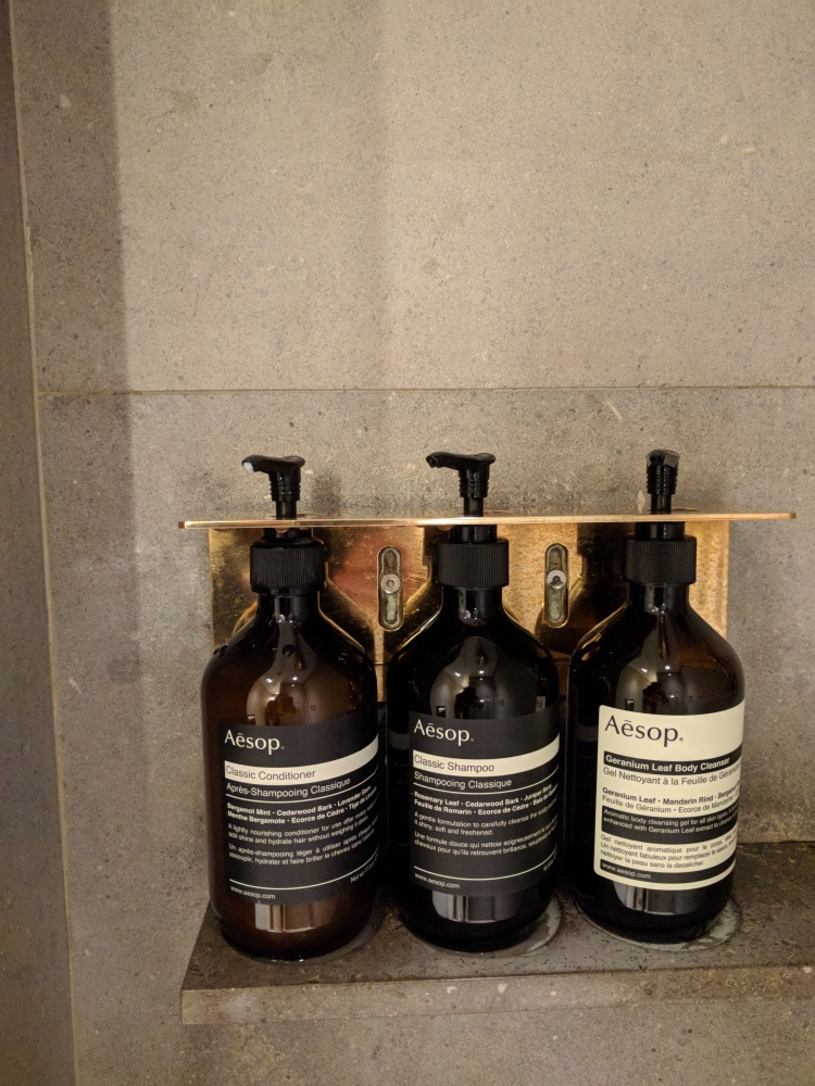 Aesop products at The Pier at HKG