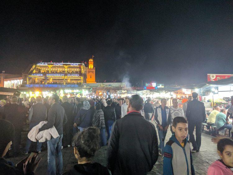 Jemaa el-Fna at night