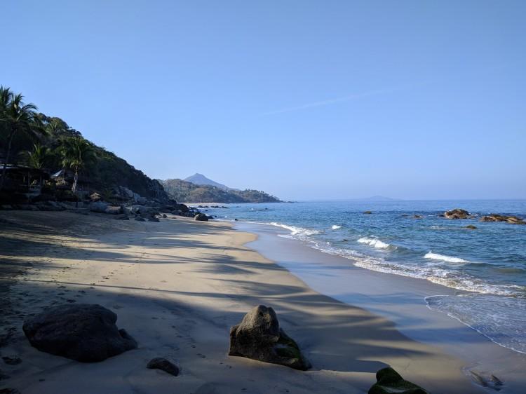 Playa Escondida's beach facing South