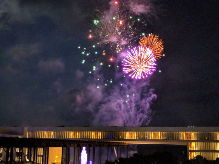 Nightly fireworks at the Grand Hyatt Playa Del Carmen