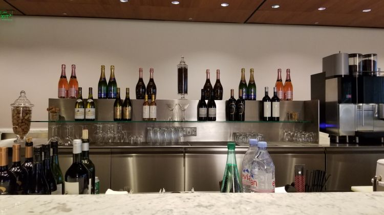 Bar at the Al Mourjan Lounge at Hamad International Airport in Doha Qatar