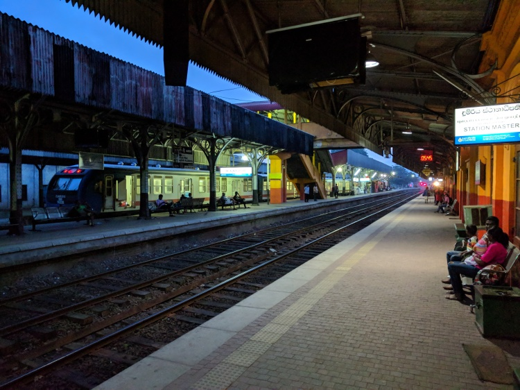 Maradana Station train platform in Colombo