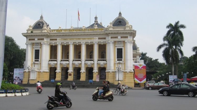 The Opera House in Hanoi Vietnam