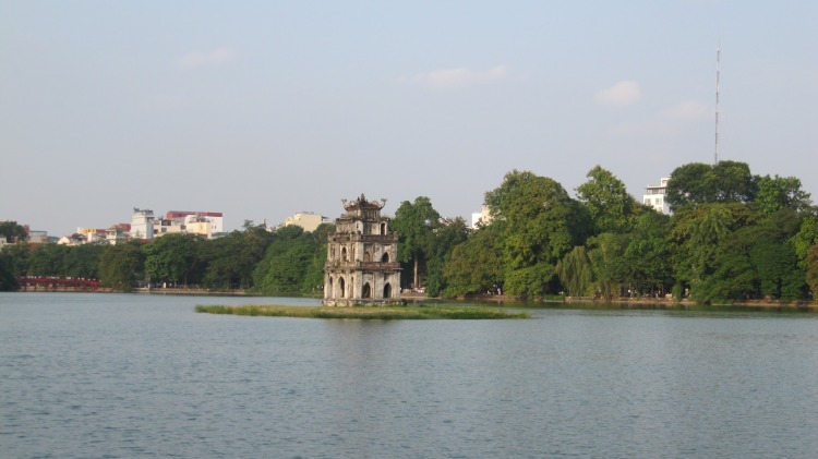 The temple at West Lake, Hanoi