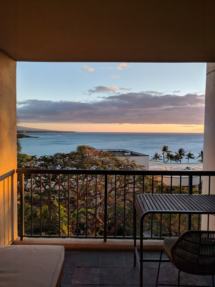 View from our lanai - Ocean View room