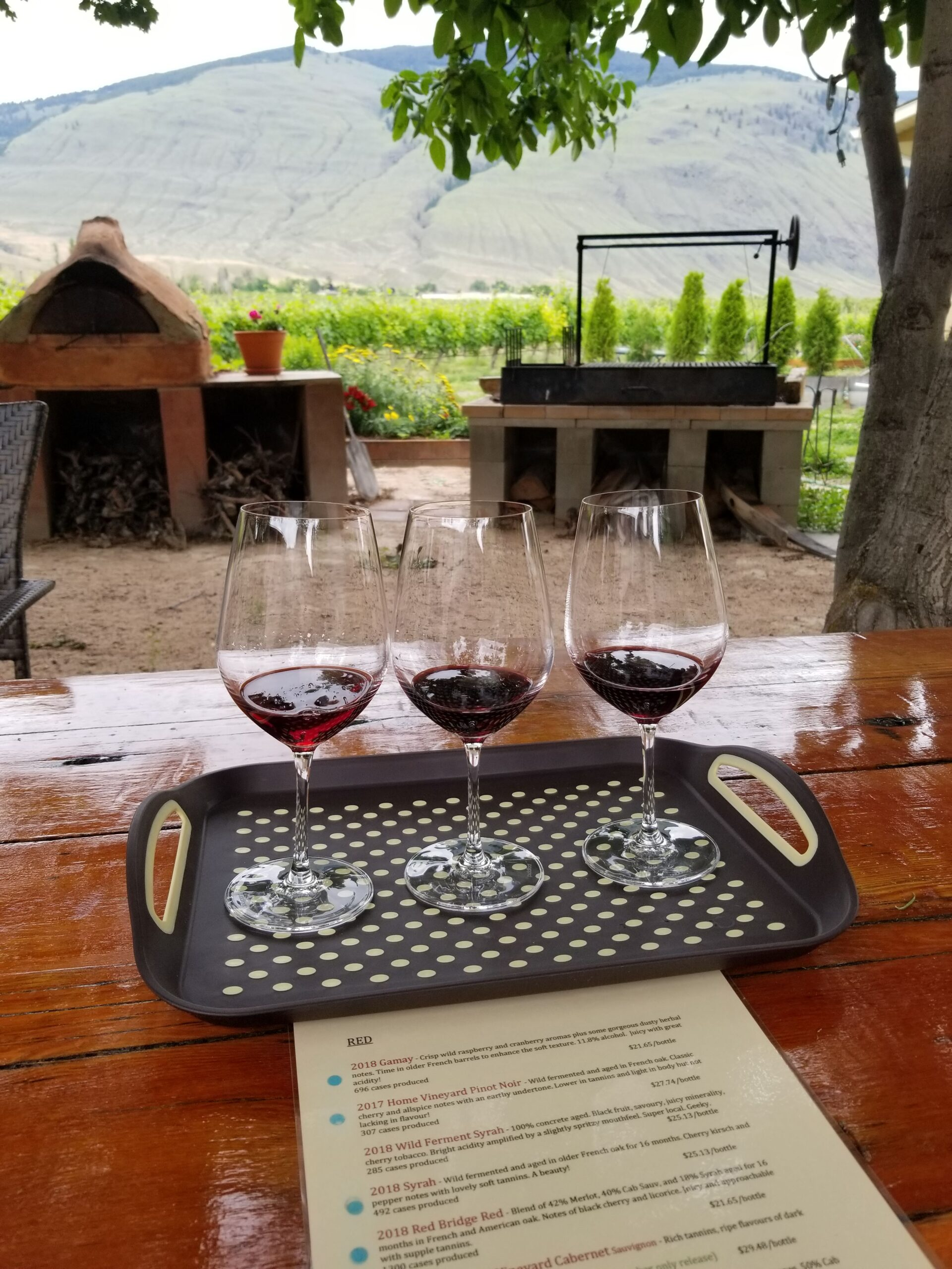 Outdoor wine tasting at Orofino