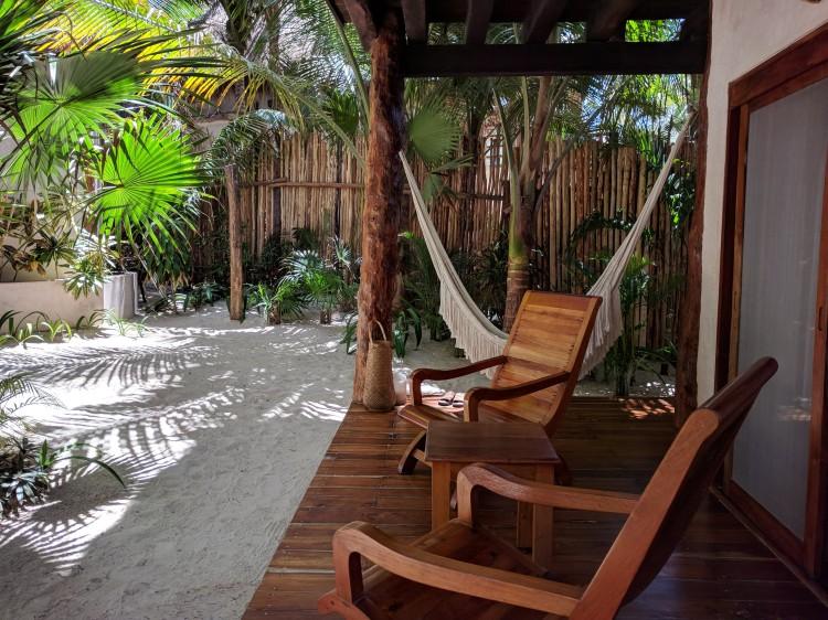 Front porch at Encantada