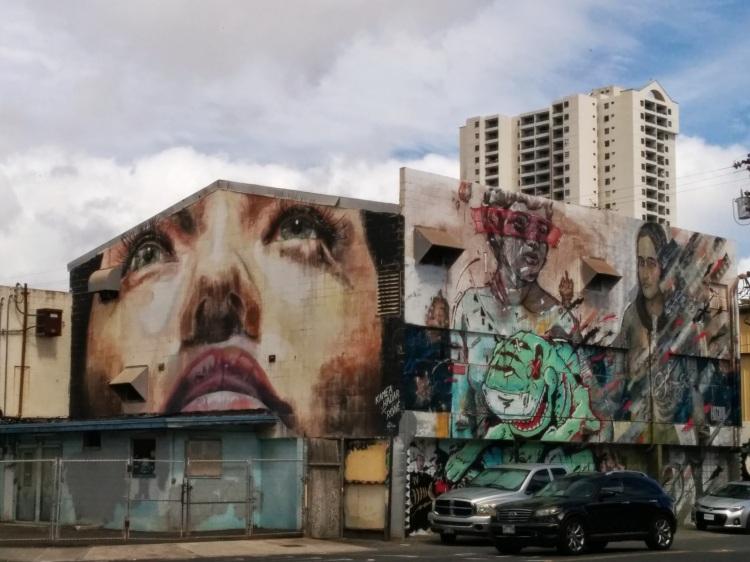 Mural in downtown Honolulu