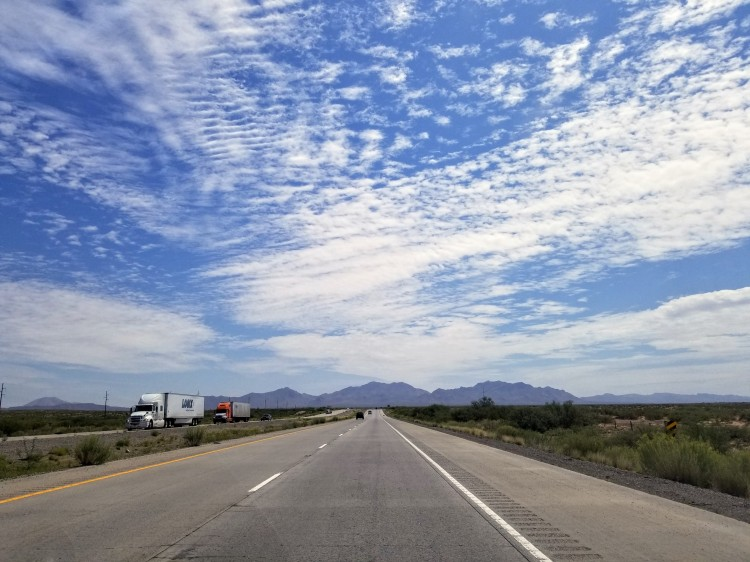 Driving down I-10 towards Marfa