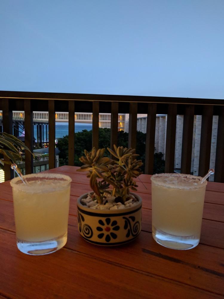 Margaritas at the Grand Club at the Grand Hyatt Playa Del Carmen