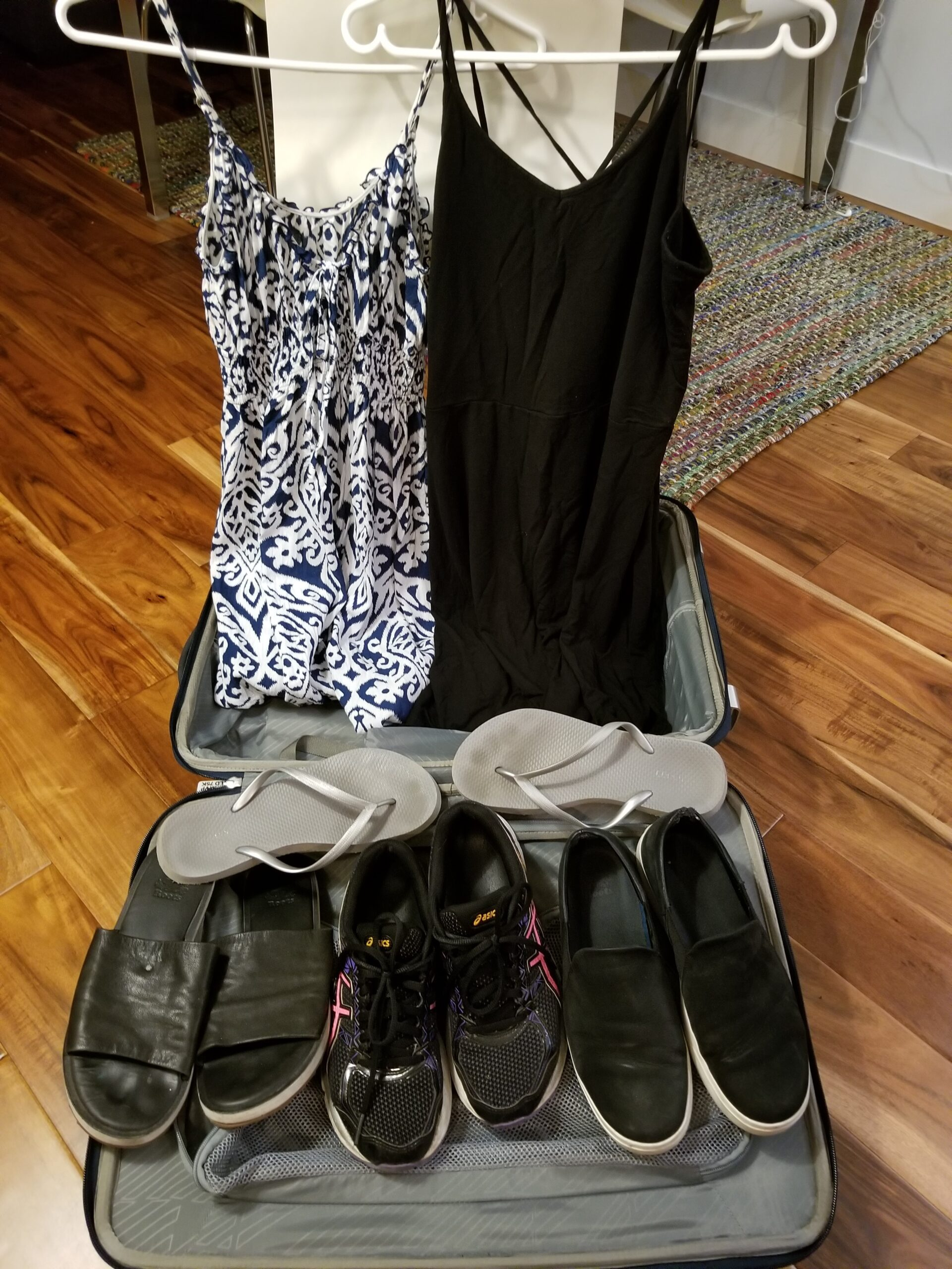Around the World #6: The dressed and shoes Maxine packed