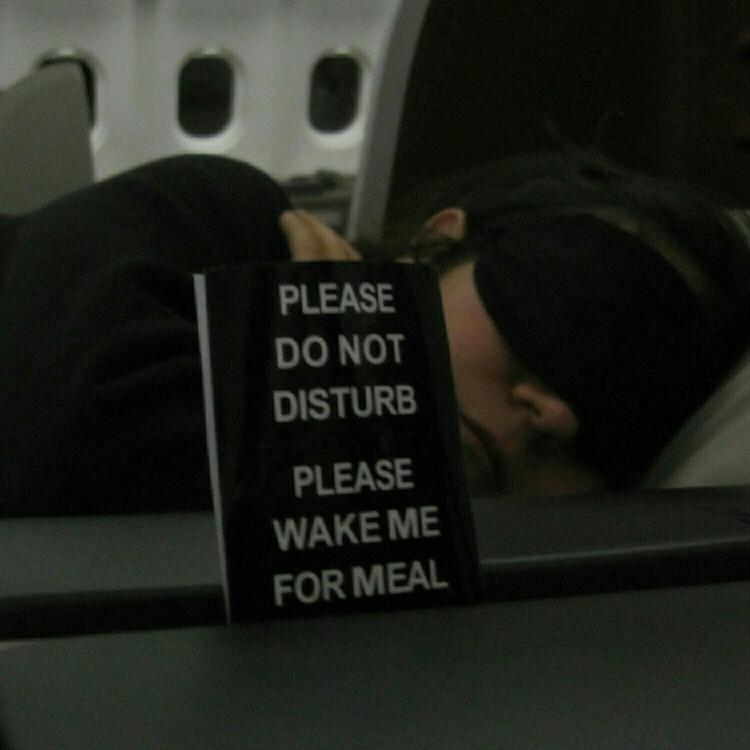 Taking a nap before the meal service in Turkish Airlines Business Class between SIN-IST
