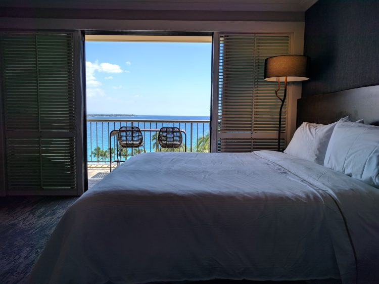 The bedroom and lanai