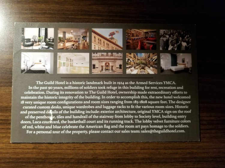 The Guild Tribute Hotel: Information about the hotel