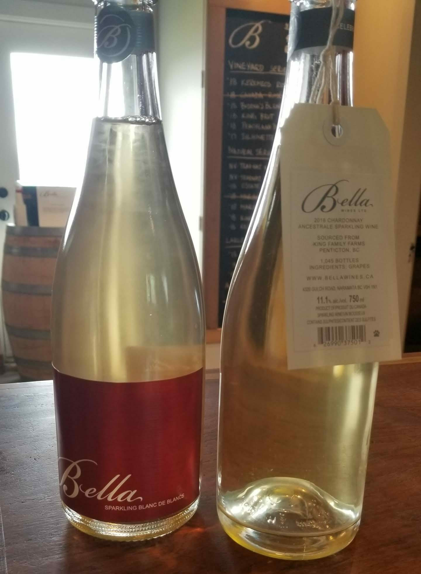 Sparkling wines at Bella Wines