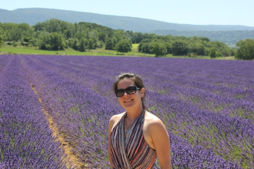 Max in the lavender fields in Provence