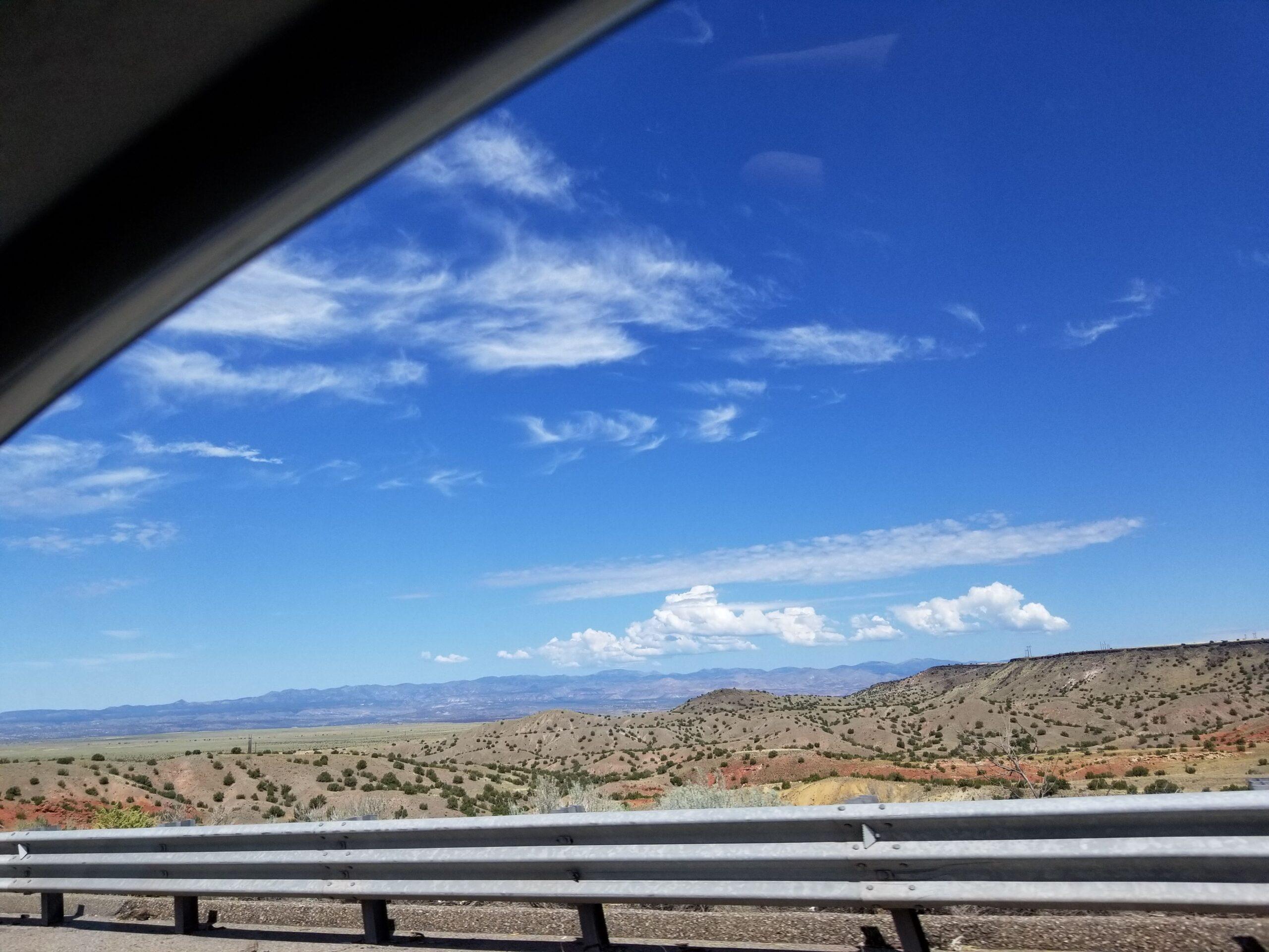 Driving down I25 between Santa Fe and Albuquerque