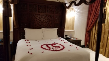 Anniversary surpirse in our room at the Ritz Carlton Sharq Village