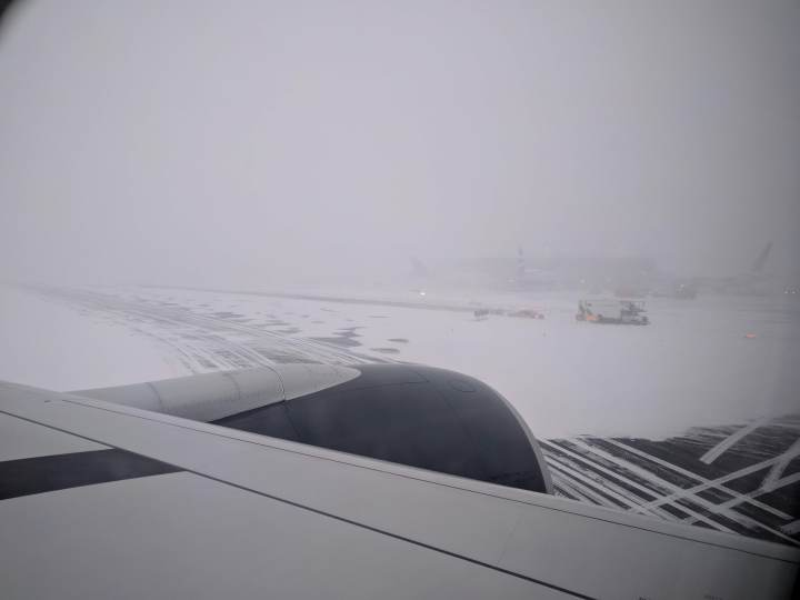 Landing at YYZ in a snow storm