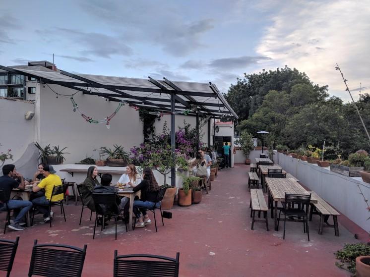 The terrace at Casa Trapiche