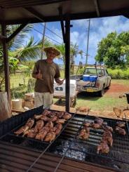 The owner at Anahola Huli-Huli Chicken Kauai