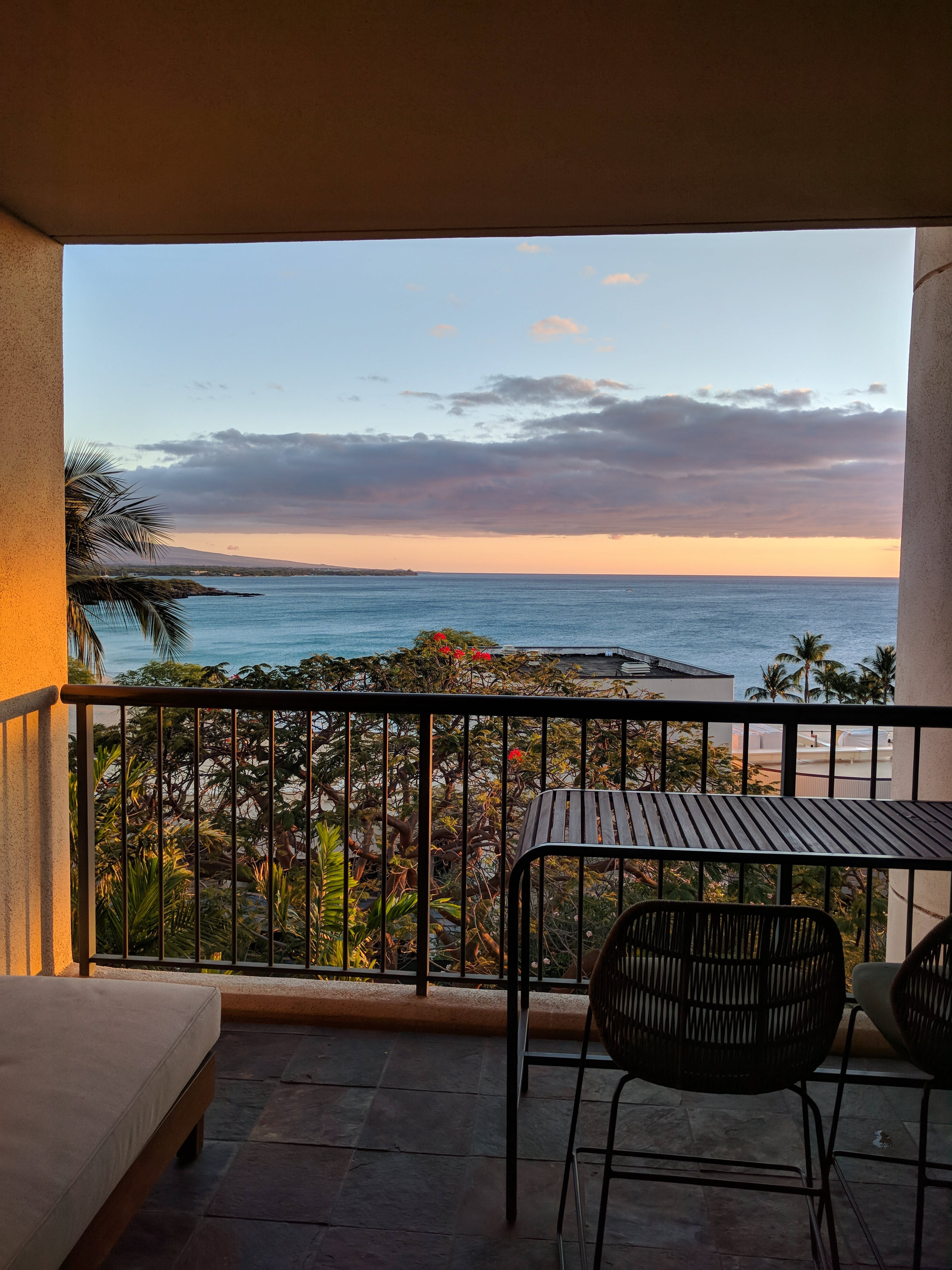 View from the lanai in a 6th floor ocean view room