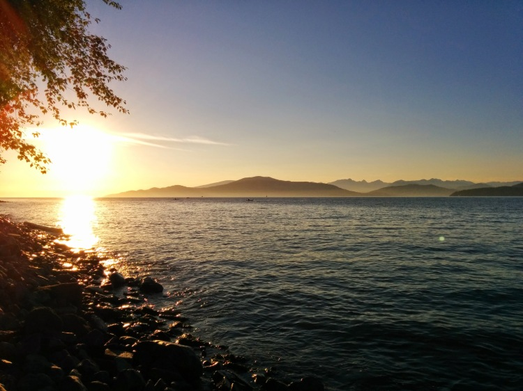 Sunset from Spanish Banks