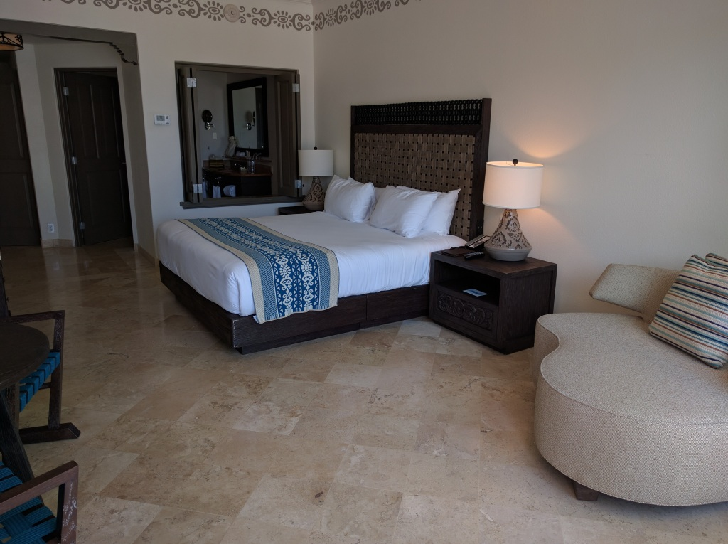 Our room at the Hilton Los Cabos resort, one of my favorite Hilton's