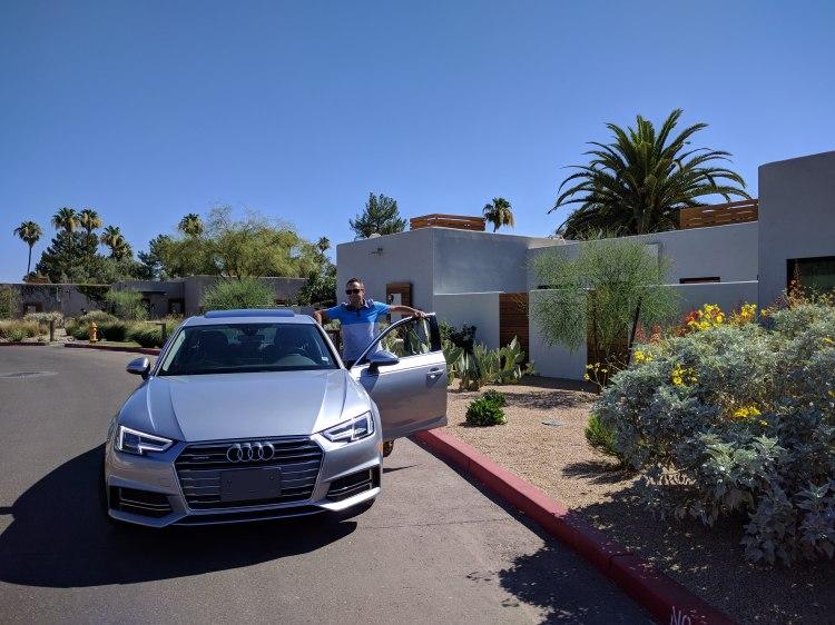 Jason with the Silvercar Audi A4