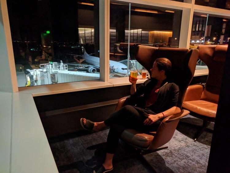 Alaska Lounge N-Gates: Max's favorite seat