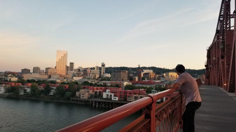 Jason on the Broadway Bridge