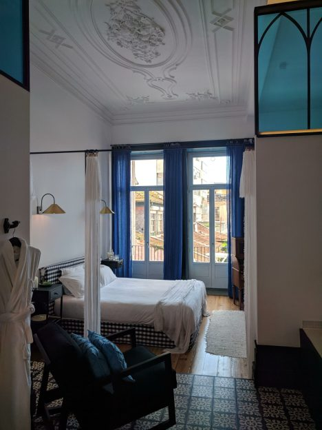 Our room at Cocorico Luxury Guesthouse in Porto, Portugal