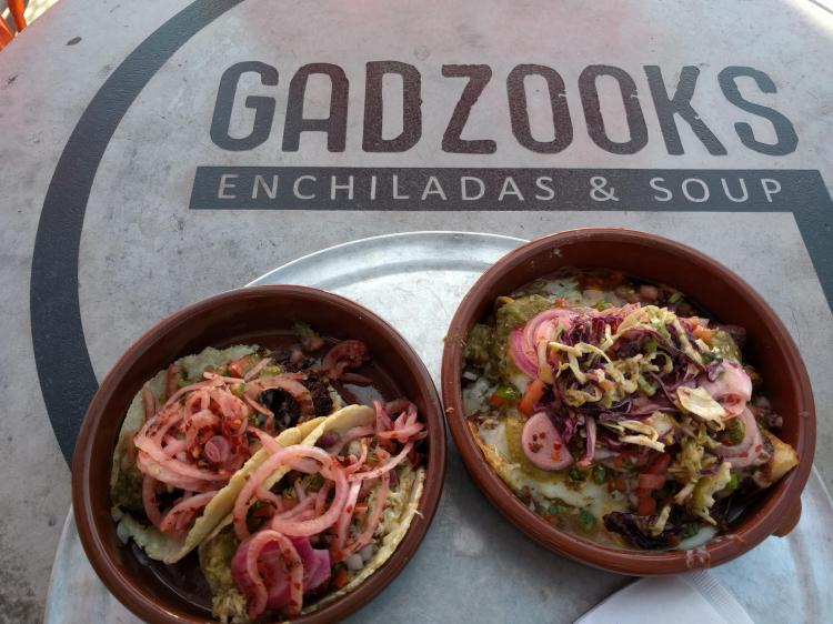 Street tacos and enchiladas at Gadzooks