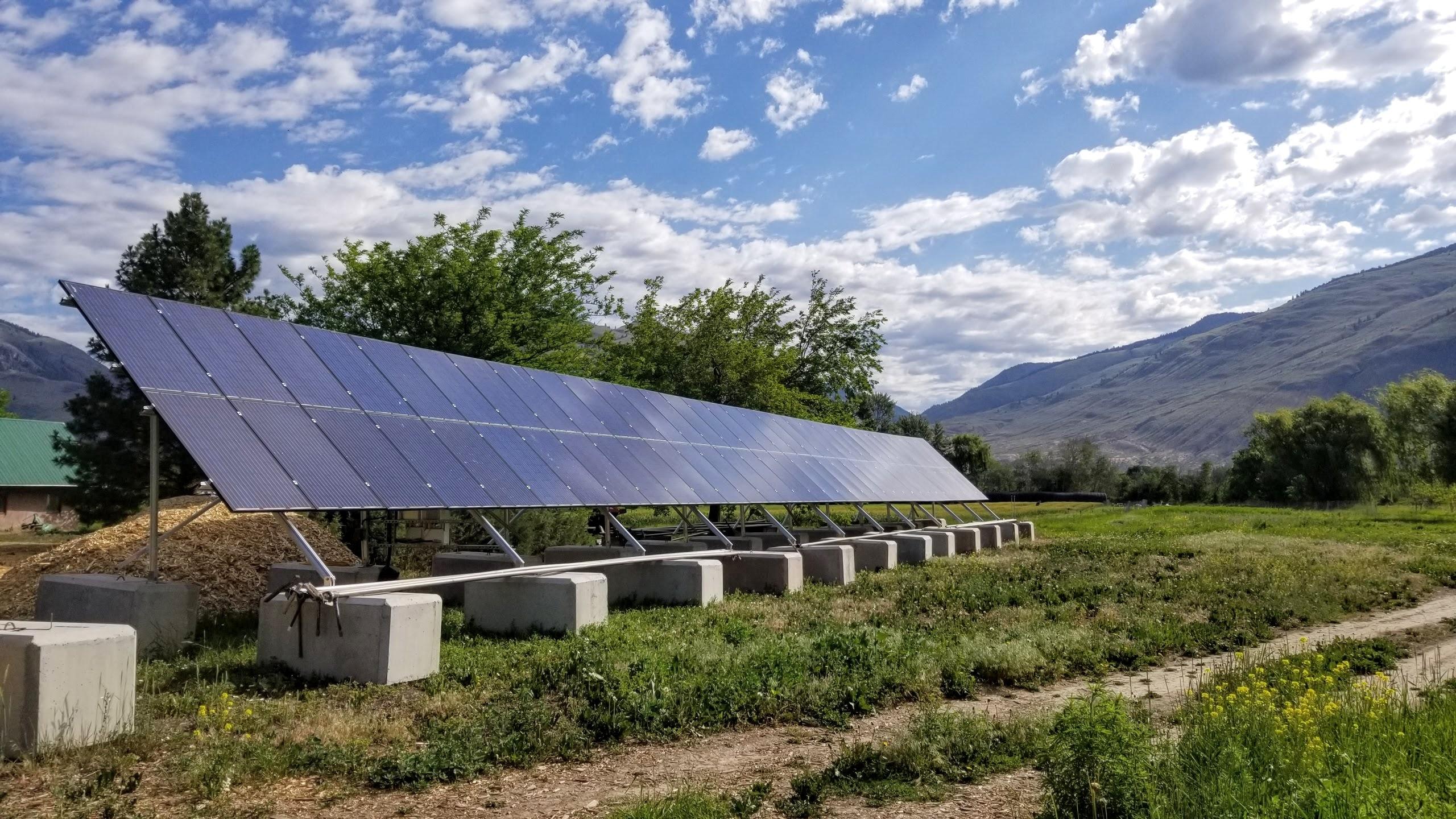 Solar panels at Farmersdotter
