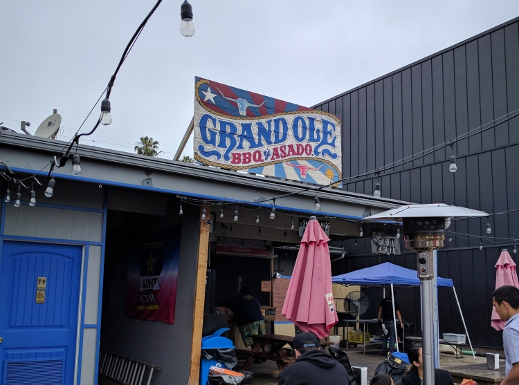 Grand Ole BBQ from the front