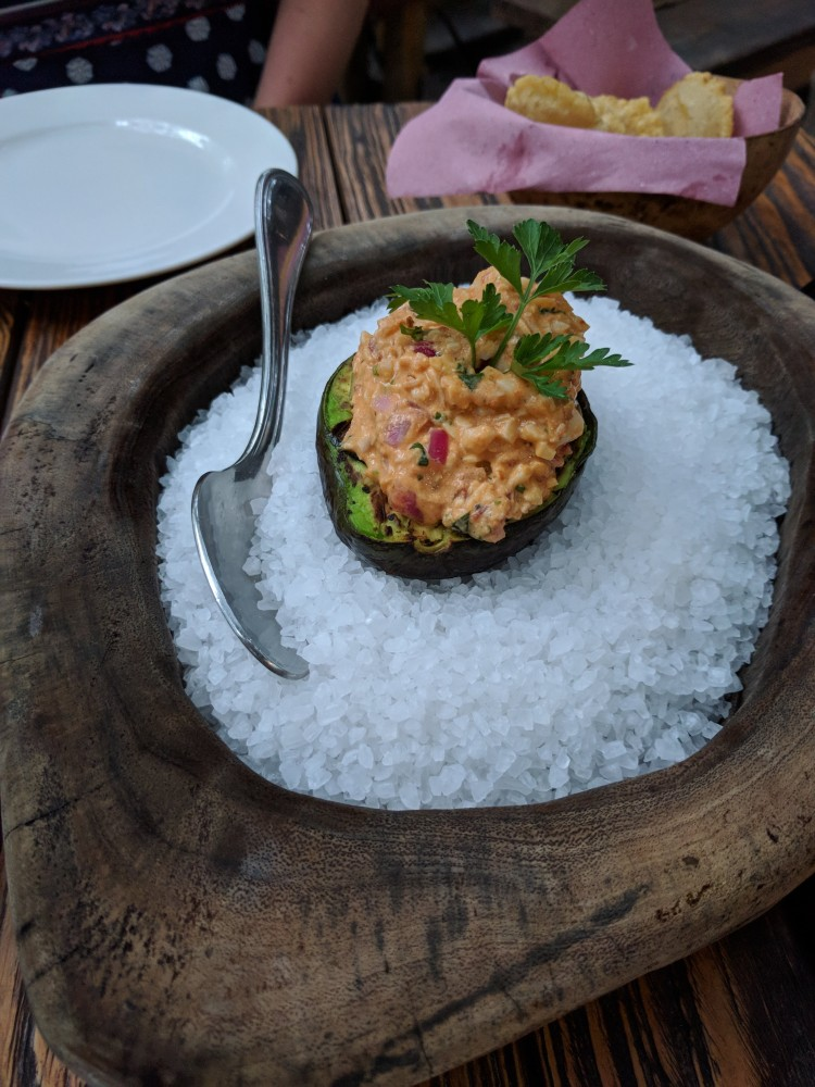 The deviled avocado at Kitchen Table