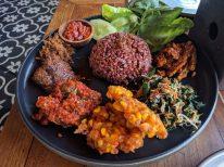 Non-vegetarian nasi campur at Ulekan
