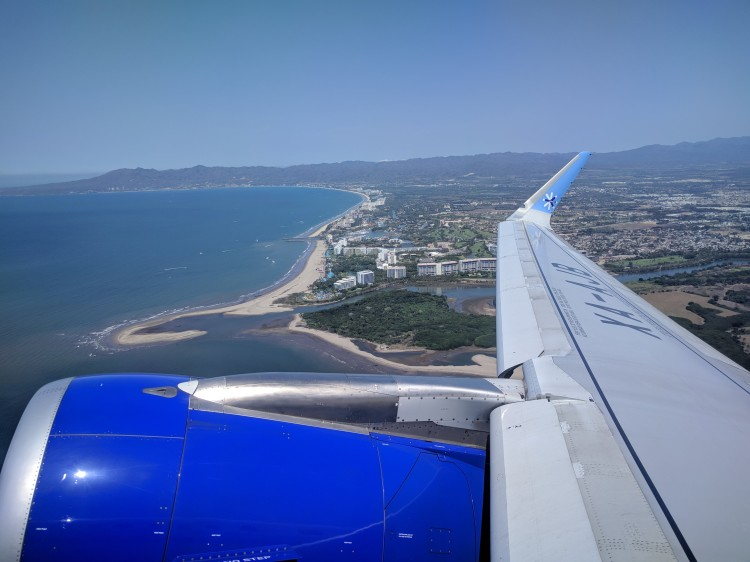Interjet flight taking off from PVR