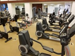 Cardio equipment in the gym at the Waikiki Marriott Resort & Spa
