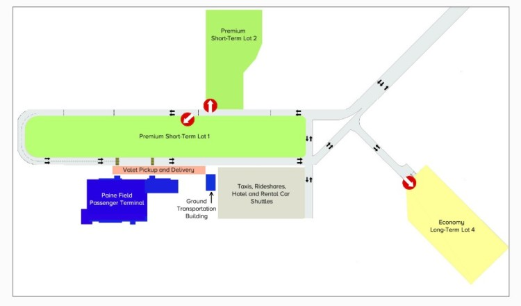 PAE - Paine Field Parking Map
