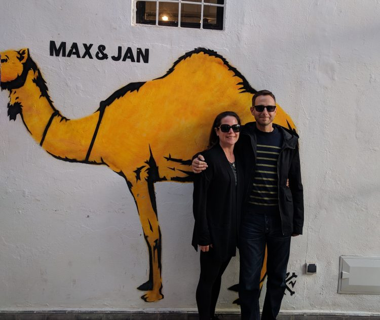 Maxine and Jason in Marrakesh, Morocco