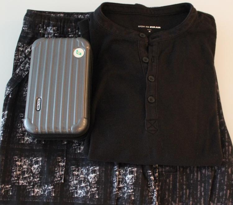 EVA Royal Laurel pyjamas and Rimowa kit