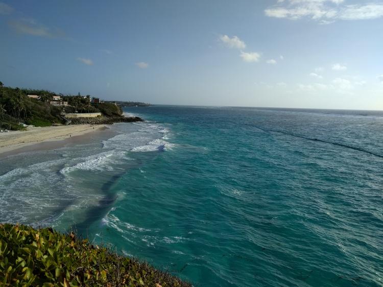 Crane Beach in Barbados without sargassum