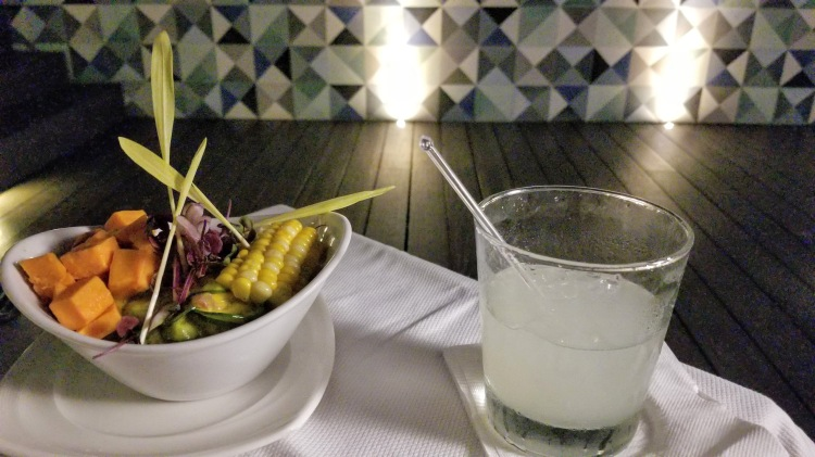 Peruvian ceviche and margarita at Sushi en la Azotea at the K Tower Hotel