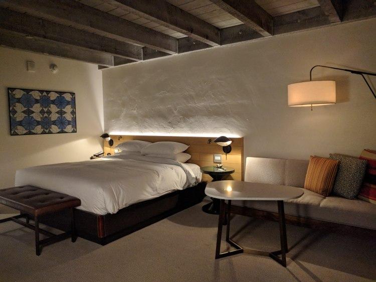 Bedroom in the Saarinen bungalow at the Andaz Scottsdale