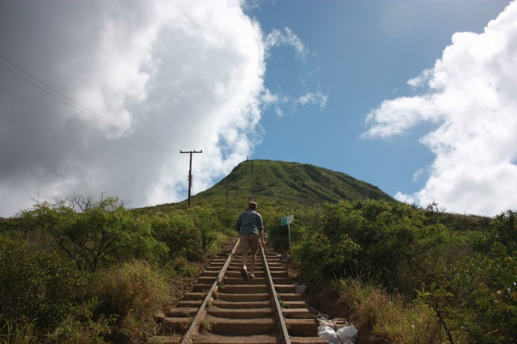 Trail/stairs up Koko Crater