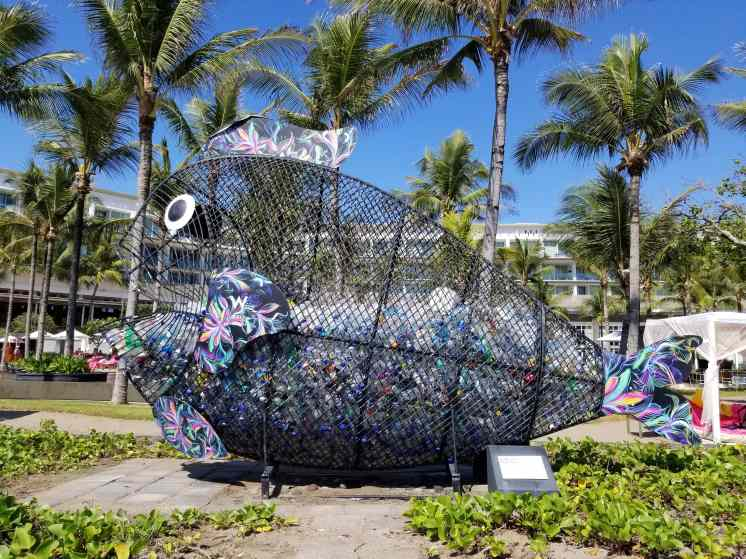 Goby the fish, water bottle collector/art installation at the W Seminyak Bali