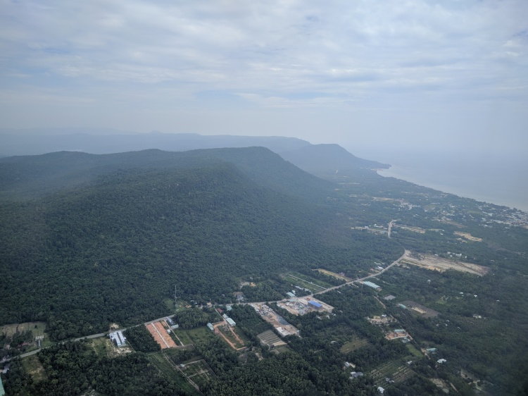 Flying over Phu Quoc