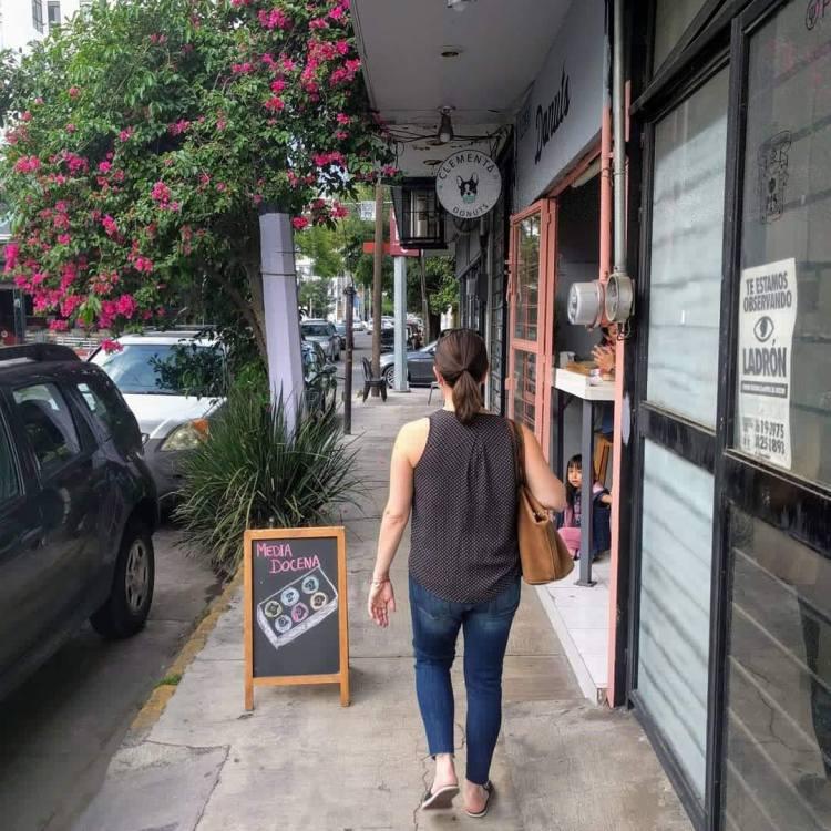 Max walking in Guadalajara